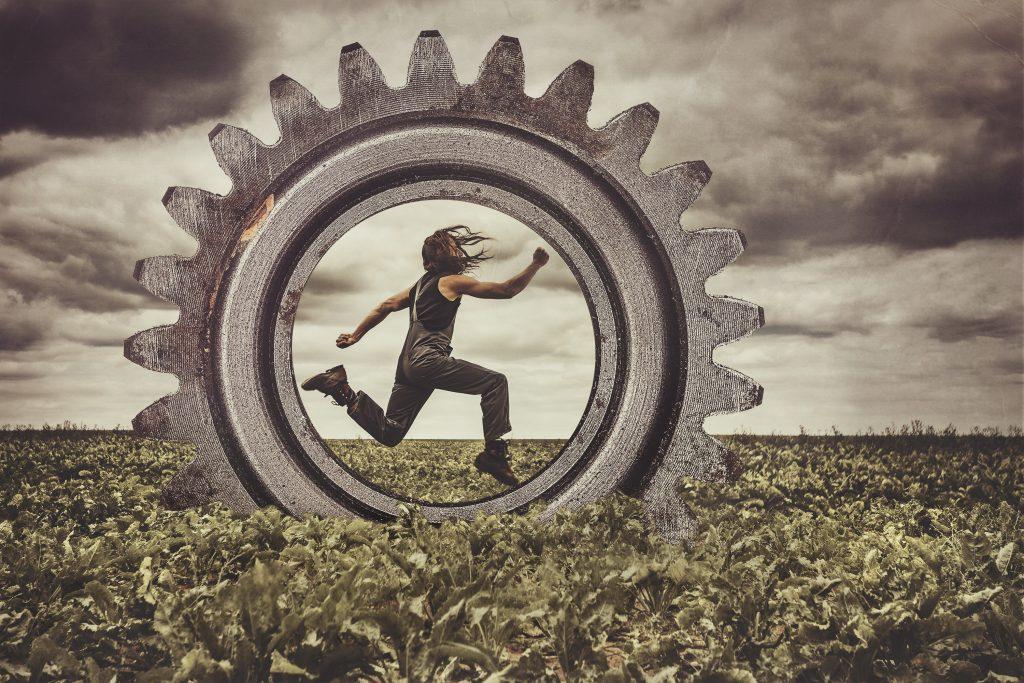 Run worker, run! - Hinders by Idan Wizen.